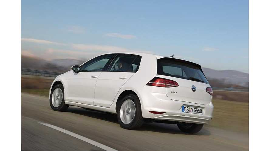Production Volkswagen e-Golf Images Leak Out
