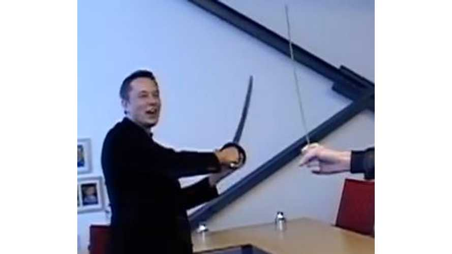 Video: Elon Musk Swings a Sword