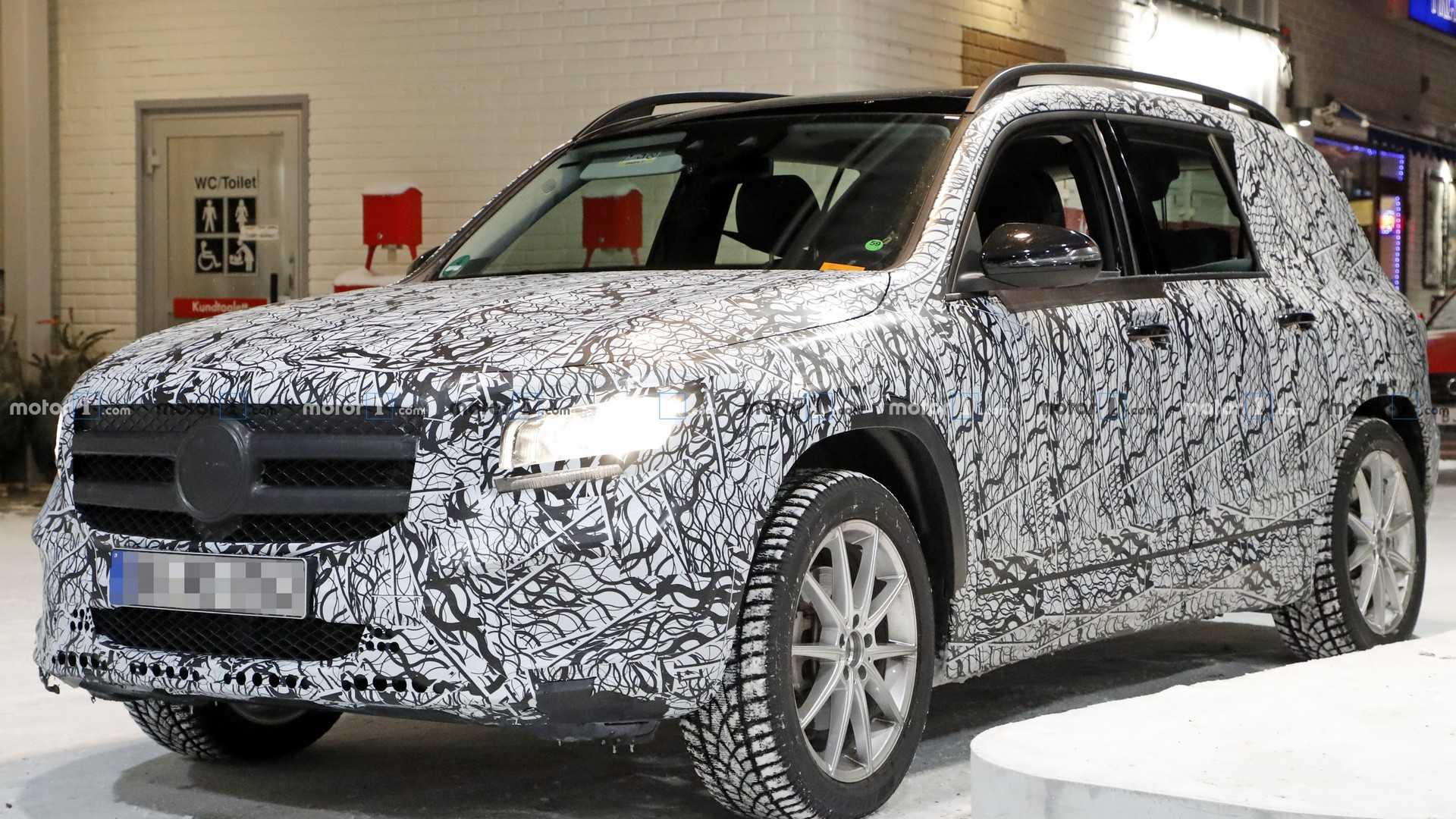 2020 Mercedes Glb Spied Inside And Out At Gas Station