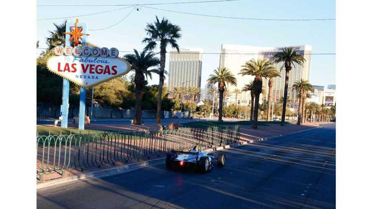 Formula E Racer Demonstration Run At CES In Las Vegas (w/videos)