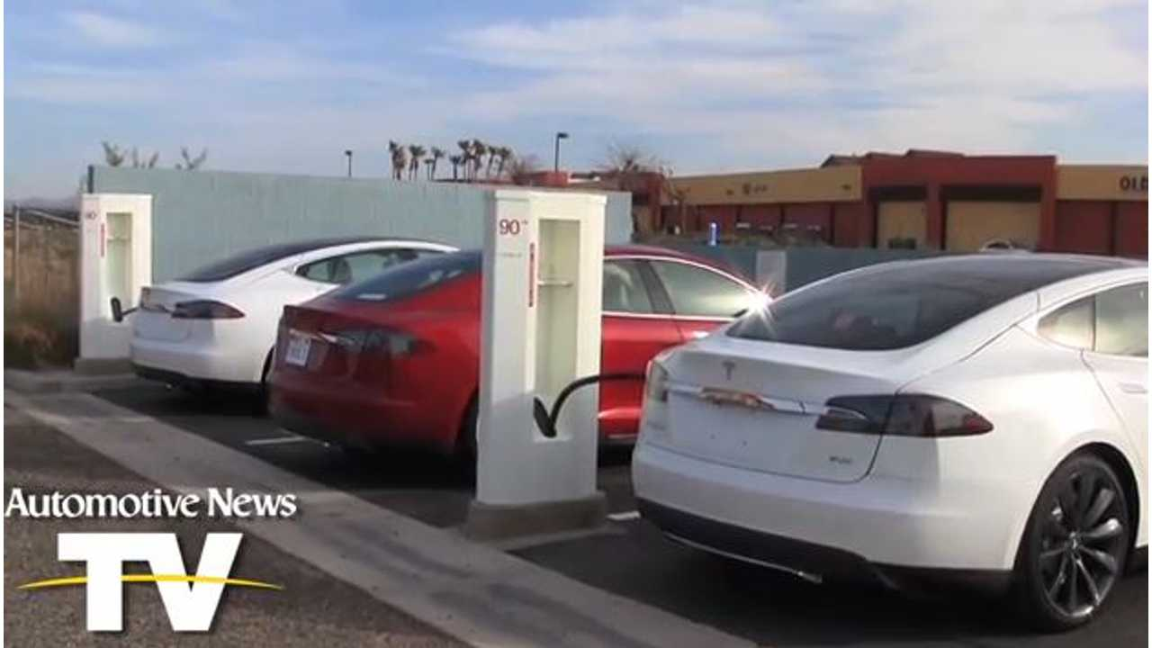 I Need a Charge... So How Long Will These Charger-Hogging Model S Sedans be Charging For?