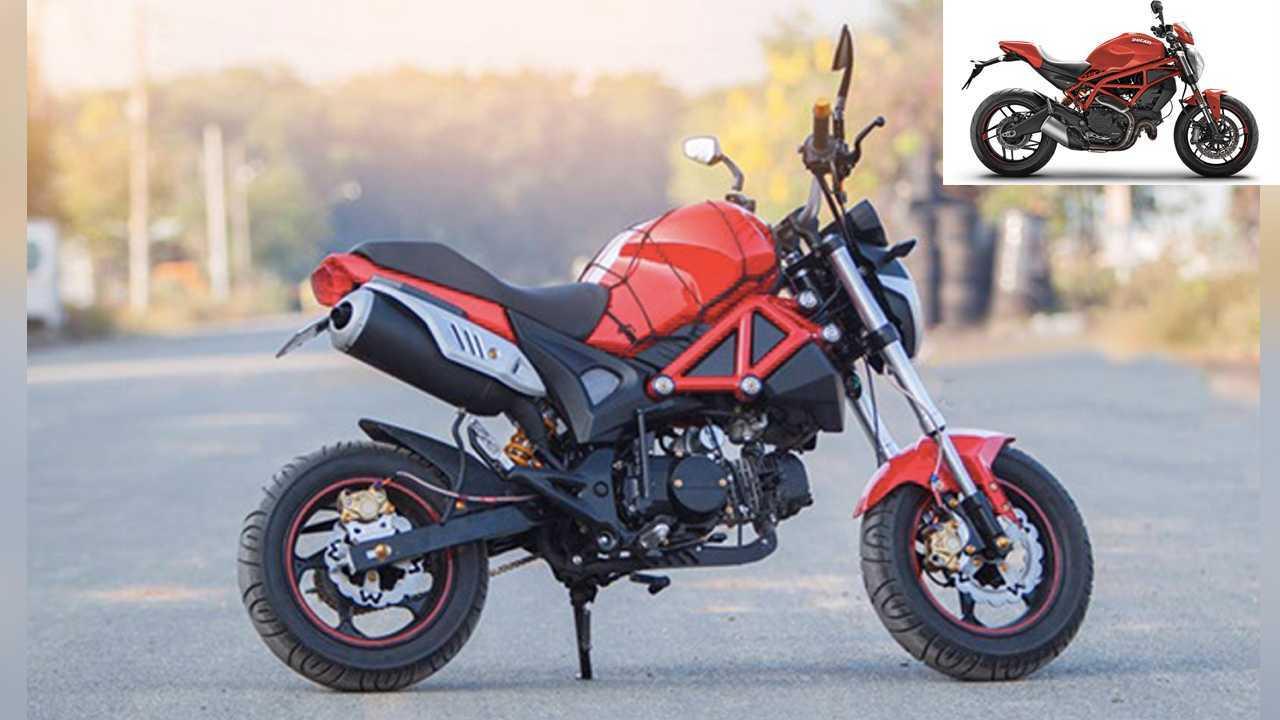 Quang Phuong Motor Monster 110 = Ducati Monster 1200
