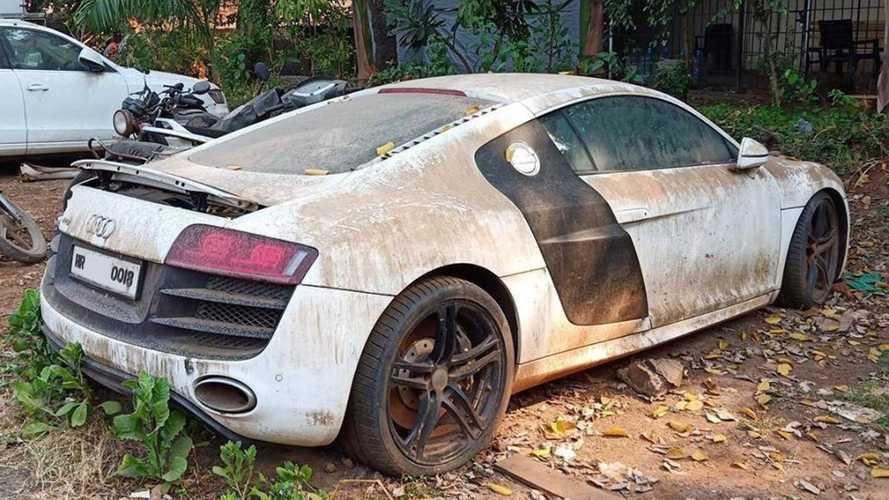 Une Audi R8 V10 laissée à l'abandon en Inde