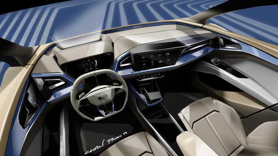 Audi Q4 e-tron teaser sketches