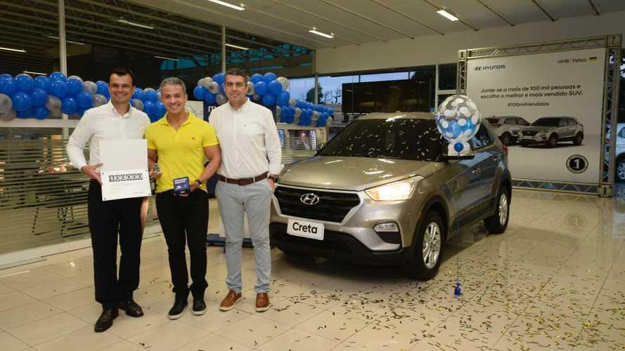Hyundai Creta alcança 100 mil unidades vendidas no Brasil