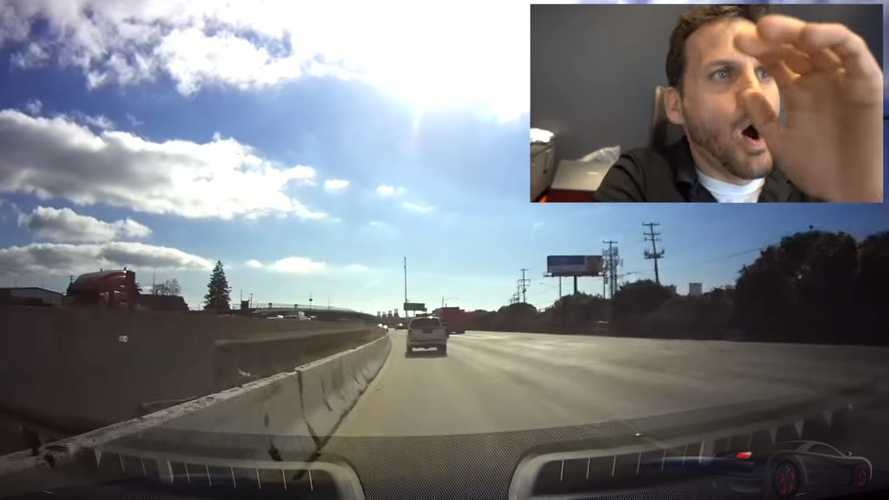 Watch Tesla Model S on Autopilot hit cement road barrier
