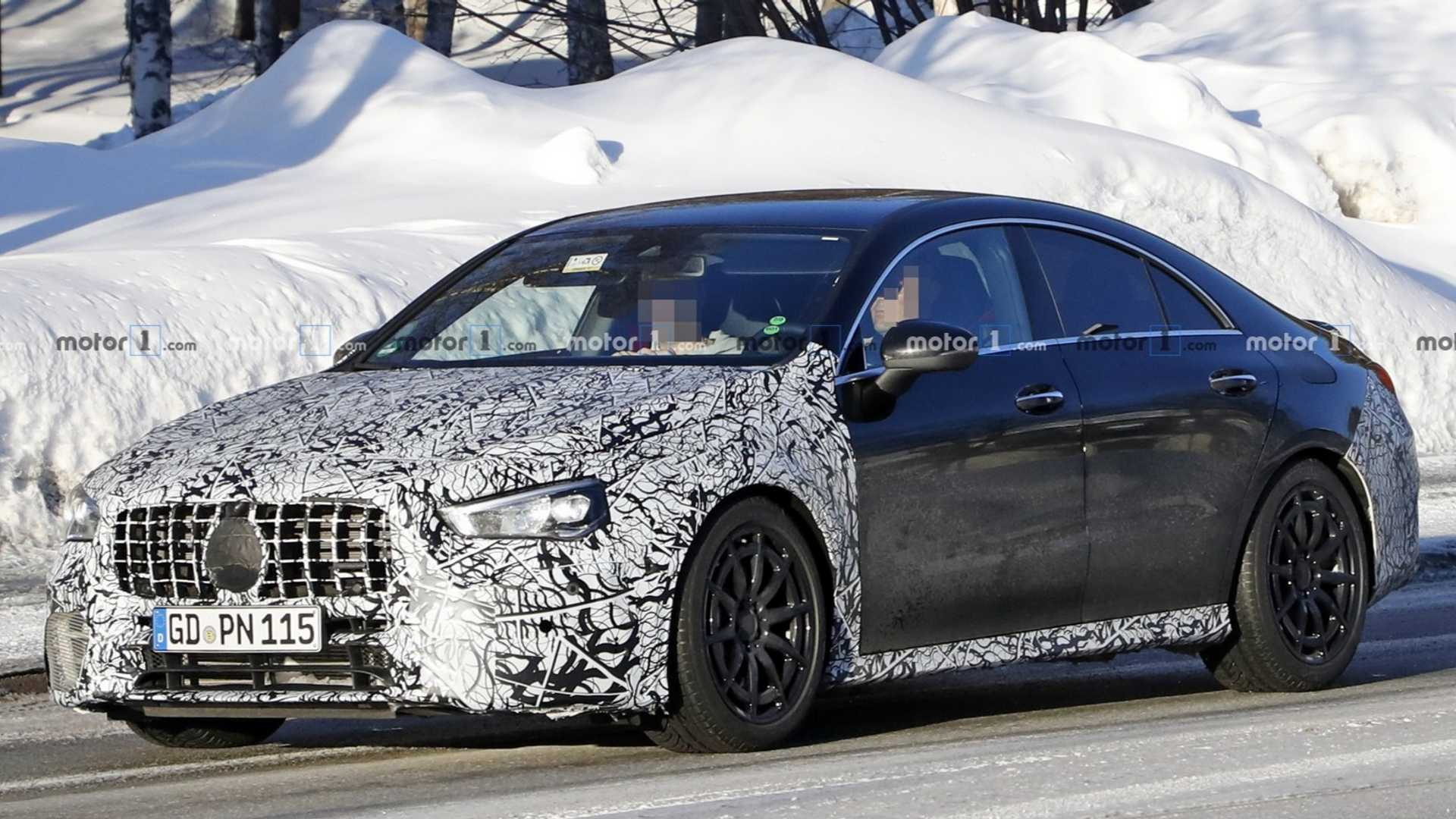 New Mercedes-AMG CLA 45 caught testing with less camo