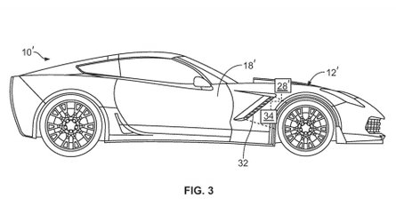 Chevy Corvette Shows Active Flaps In New Patent Filing
