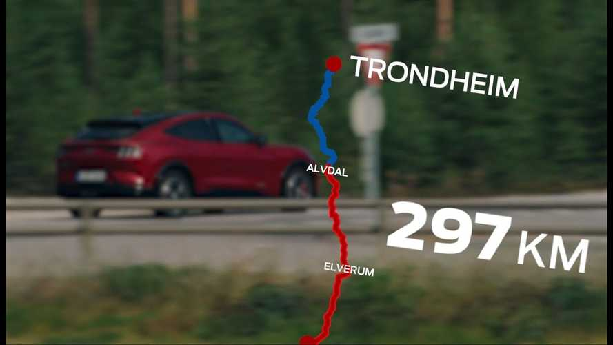Ford Mustang Mach-E Travels 484 Km Non-Stop In Norway, Still Has Charge
