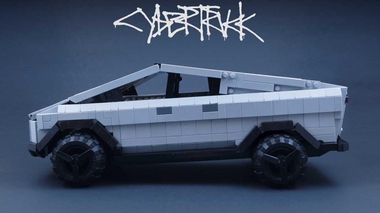 Tesla Cybertruck LEGO model
