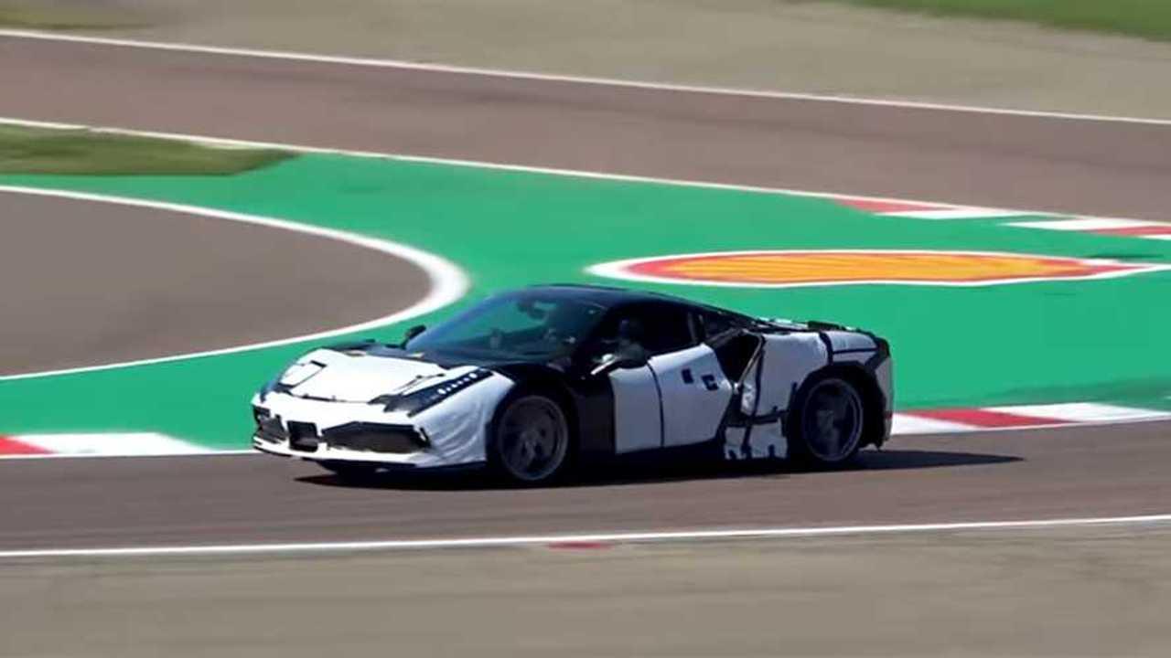 Ferrari V6 ibrida, il video spia
