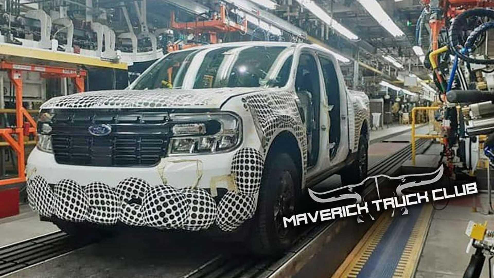 Изображения небольшого грузовика Ford Maverick 2022 года просочились с завода