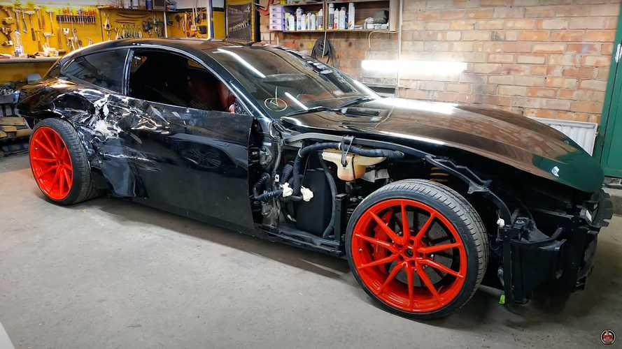 Impressive Ferrari GTC4 Lusso body repair is a one-man job