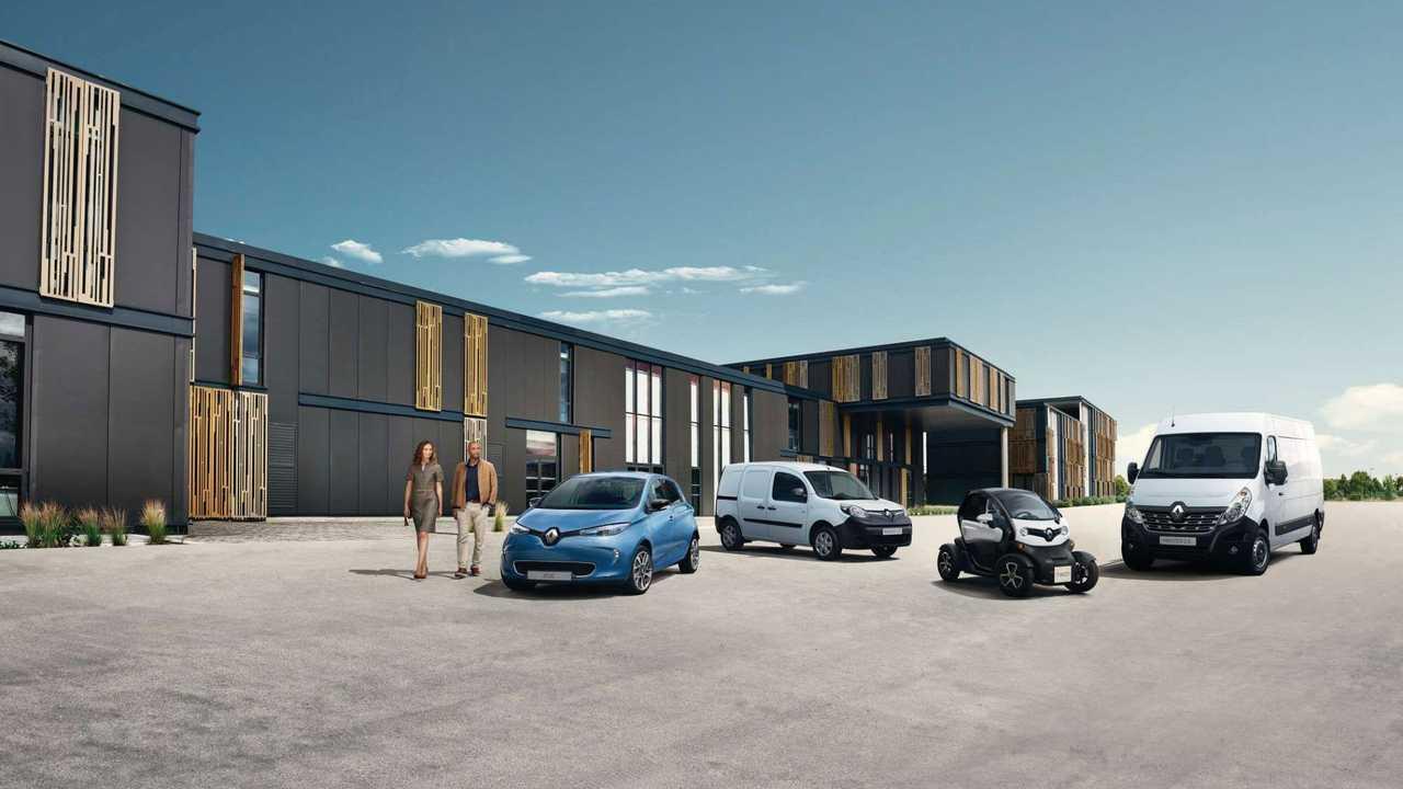 from left: Renault ZOE, Kangoo Z.E., Twizy and Master Z.E.
