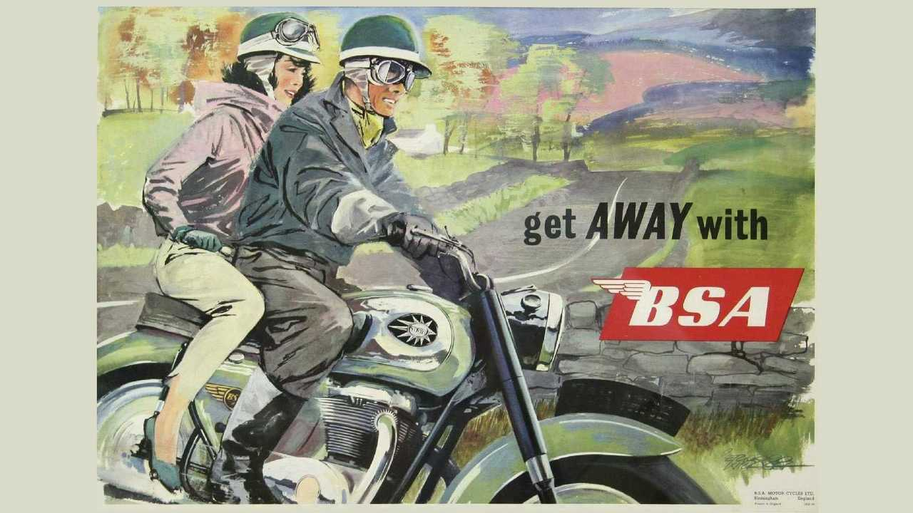 Get Away With BSA classic advertisement