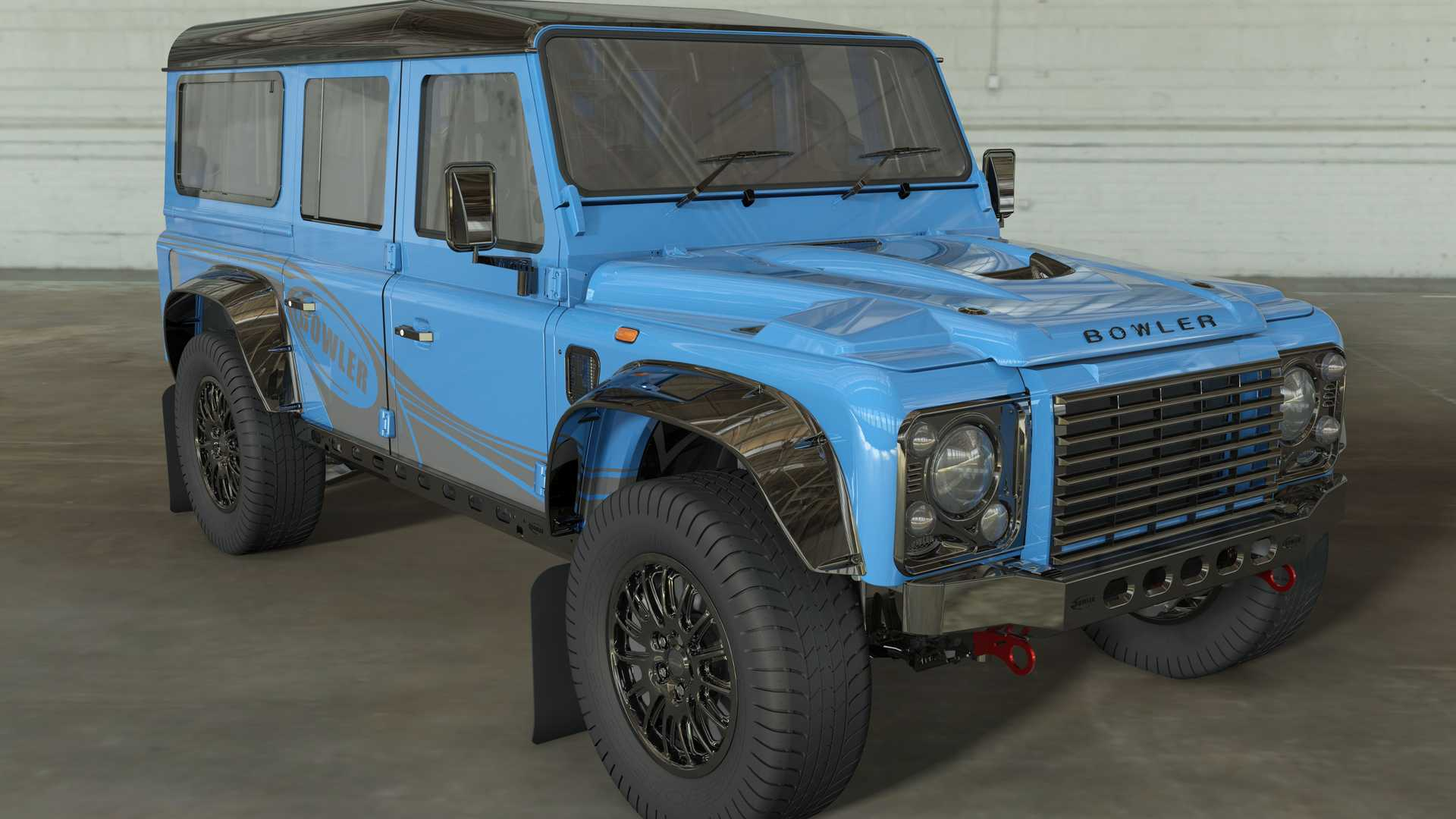 Old Land Rover Defender By Bowler Packs Supercharged V8 With 567 HP