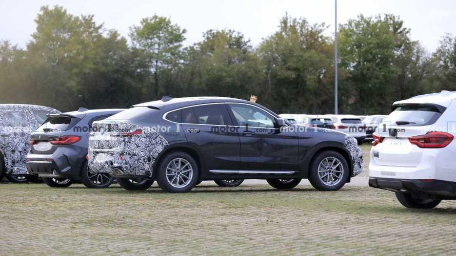 Makyajlı BMW X4'ün kapı hasarlı prototipi casuslara yakalandı