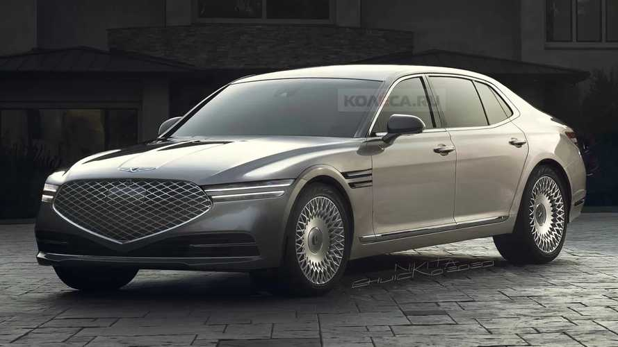 2022 Genesis G90 Speculatively Rendered Based On Spy Shots