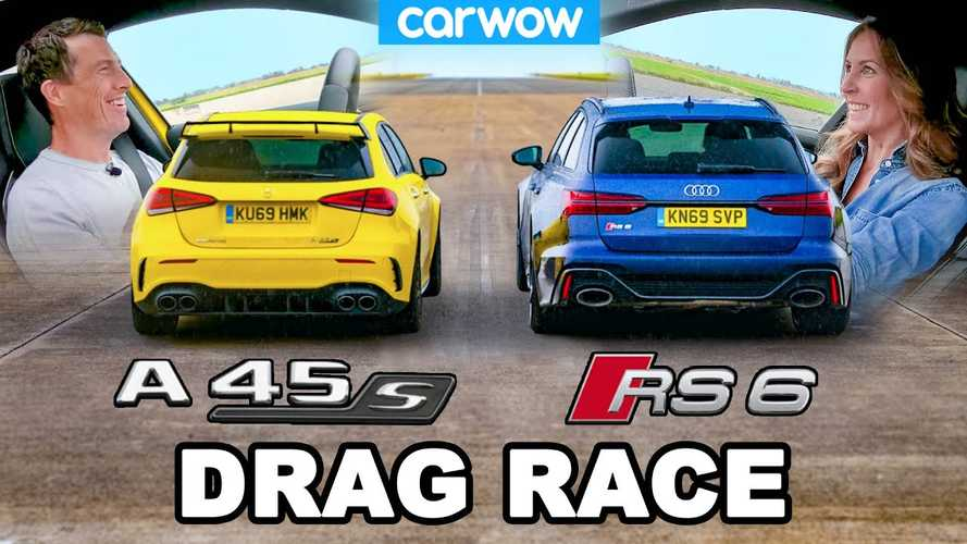 Audi RS6 drag races Mercedes-AMG A45 S in David vs Goliath duel