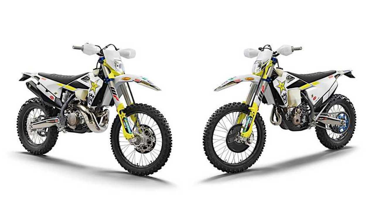 2021 Husqvarna TE 300i and FE 350 Rockstar Editions