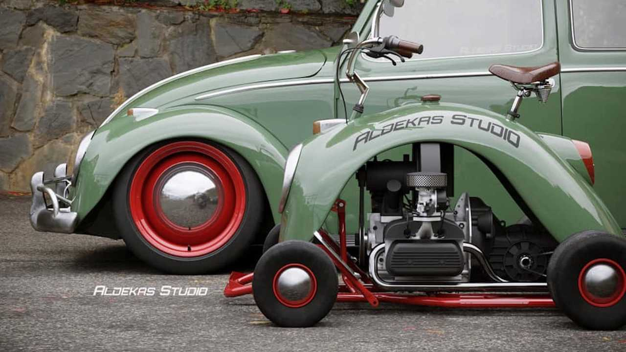 This Go Kart Fashioned From Volkswagen Beetle Fender Is Cute Af