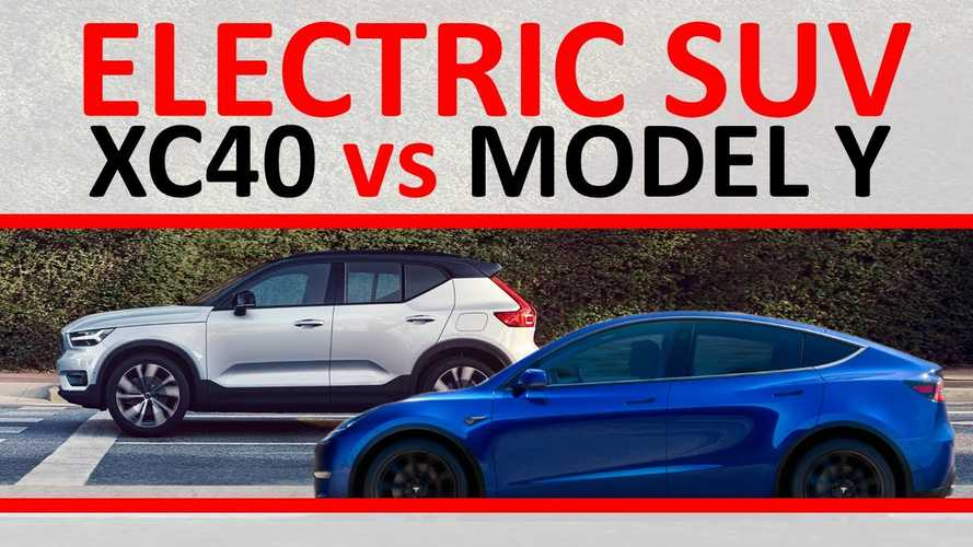 Video Compares Volvo XC40 Recharge To Tesla Model Y