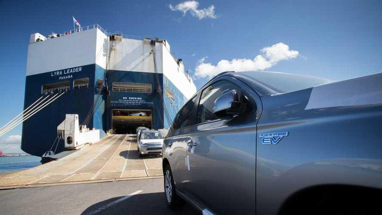 Mitsubishi Outlander PHEV arrives in Bristol's Royal Portbury Docks
