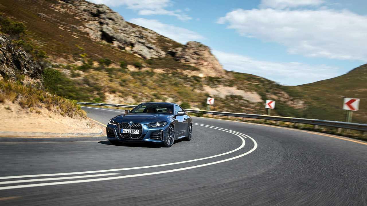 Yeni BMW 4 Serisi Coupe'nin basın fotoğrafı.