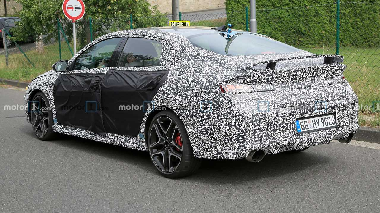 3 Hyundai Elantra N Spied With Fat Exhausts And Big Rear Wing