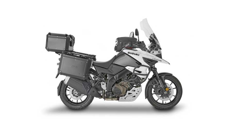 Givi Introduces Luggage Racks, Skid Plate, Other Farkles For Suzuki V-Strom 1050