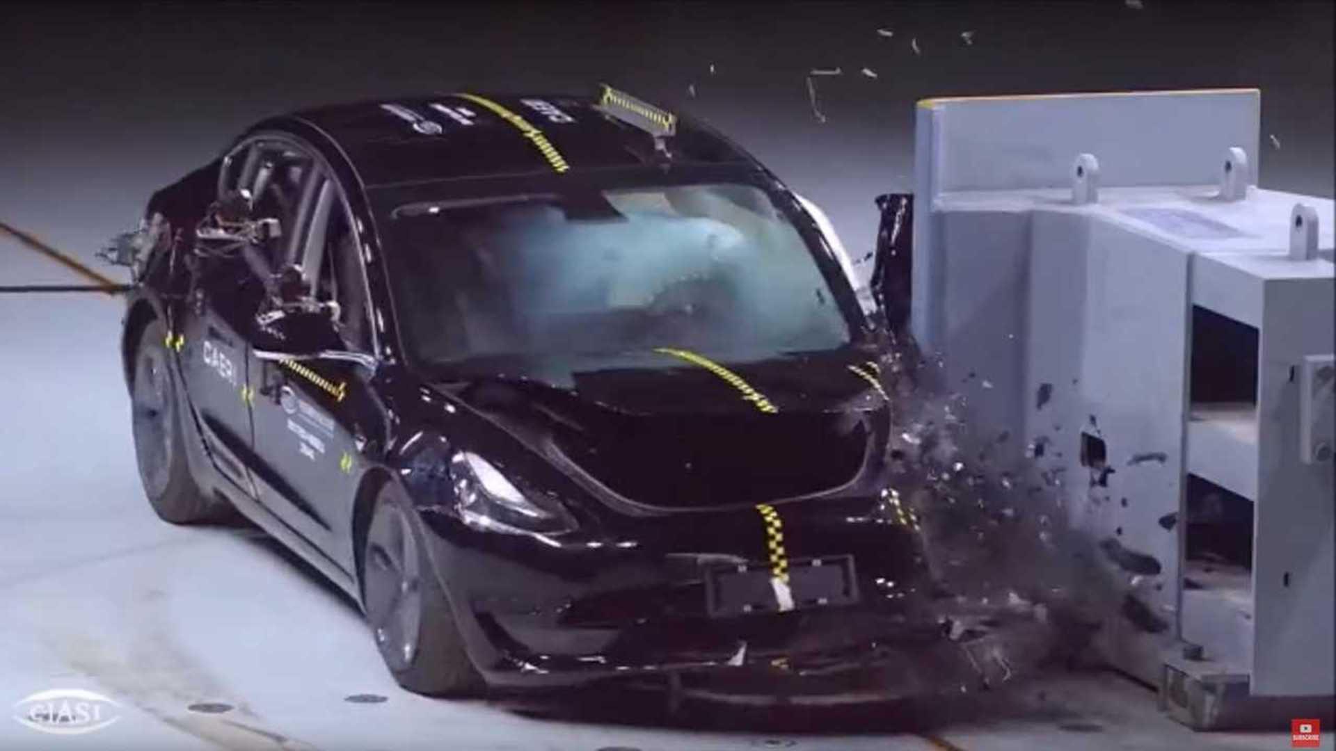 Watch Made In China Tesla Model 3 Get Crash Tested thumbnail