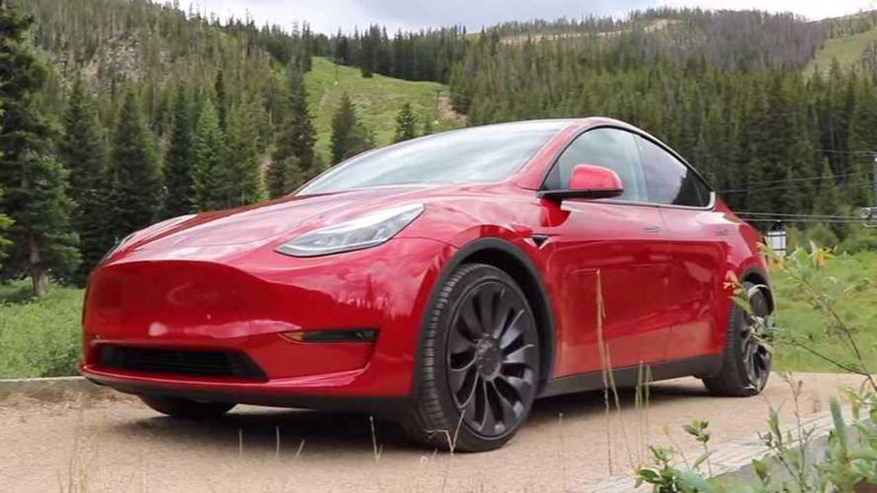 Tesla Model Y red
