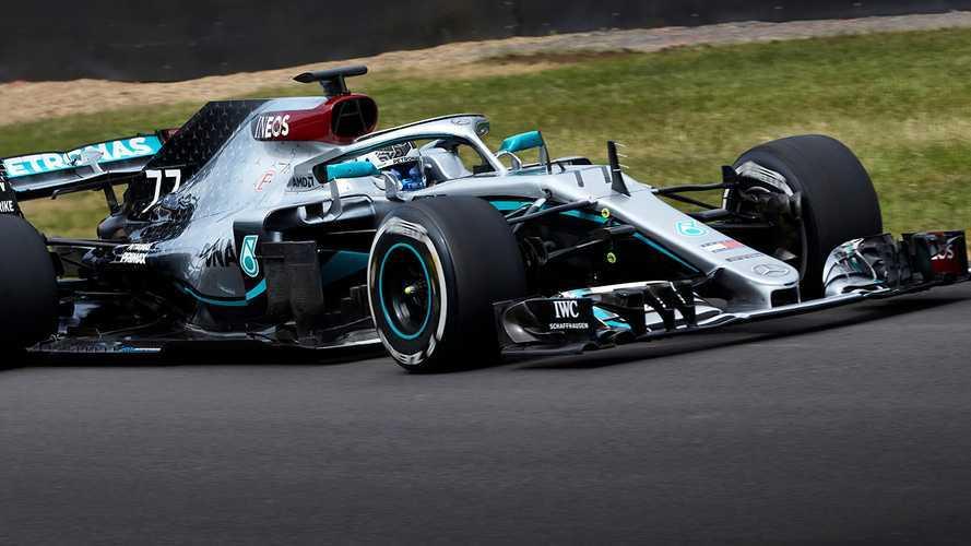 F1, Mercedes: ecco Bottas a Silverstone con la W09 ricolorata