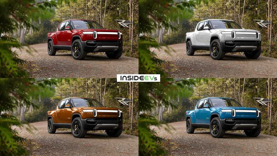 Check Out The Rivian R1T Electric Pickup Truck In 8 Different Production Colors