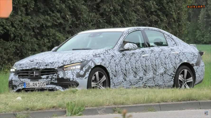 2021 Mercedes-Benz C-Class Spied With Slightly Less Camo In Front