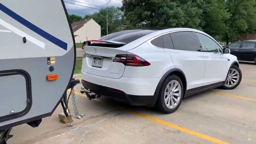 Tesla Model X Towing 5,000-lb Camper: 600-Mile Road Trip