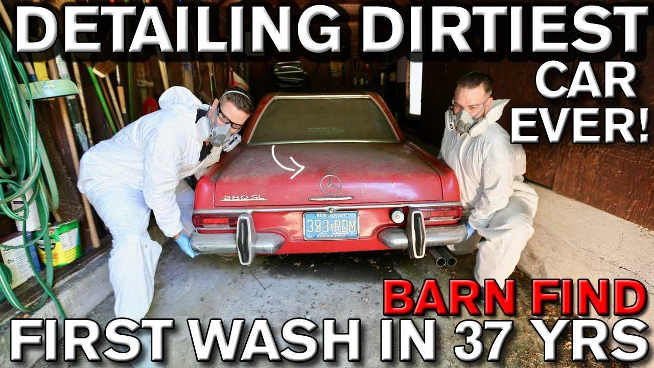 Mercedes-Benz 280 SL first wash in 37 years
