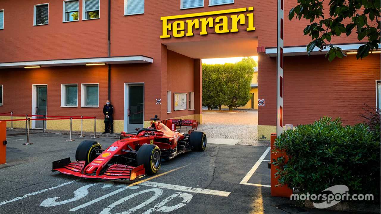 Charles Leclerc Ferrari June testing 2020 in Fiorano