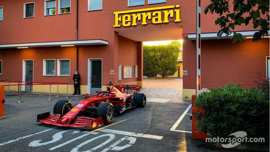 Leclerc runs 2020 F1 Ferrari on Maranello streets