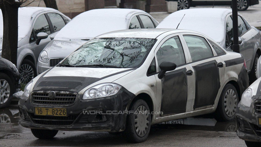 2013 Fiat Linea facelift spy photos