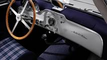 Mercedes 300 SL with plaid upholstery