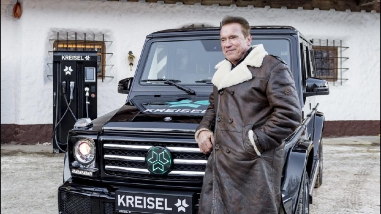 [Copertina] - Mercedes Classe G, elettrica per Schwarzenegger