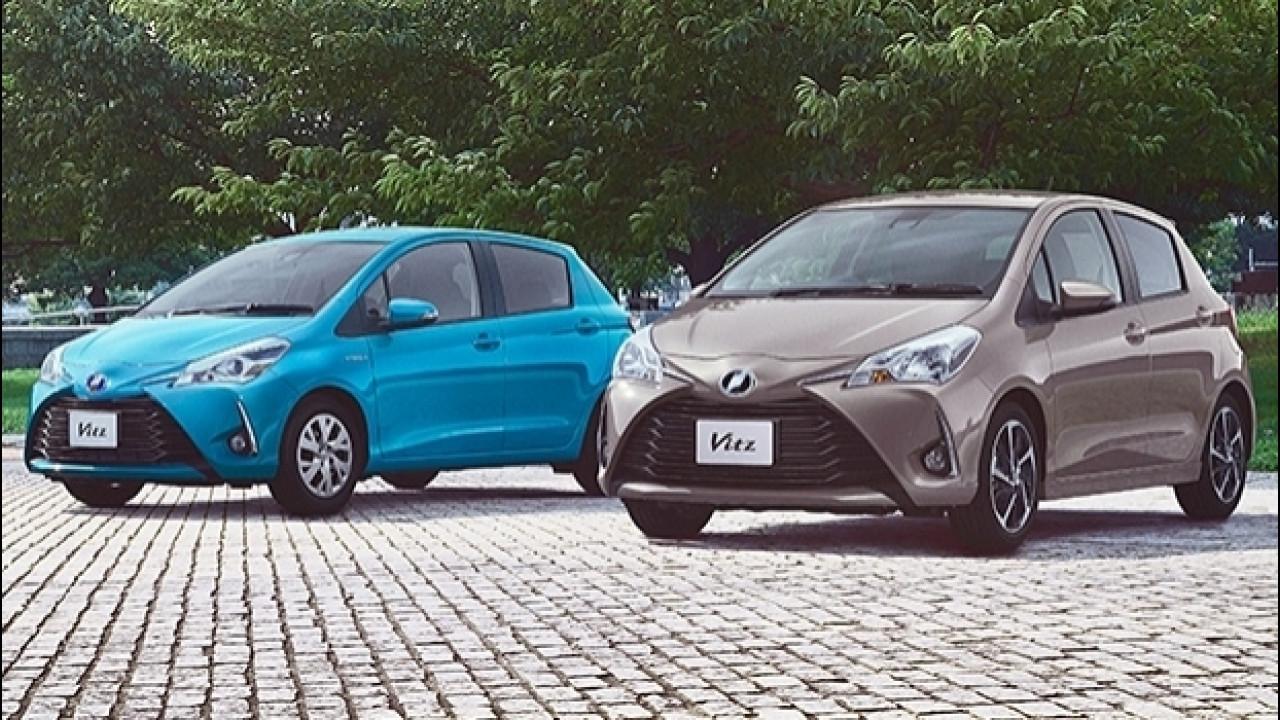[Copertina] - Toyota Yaris restyling, prime foto dal Giappone