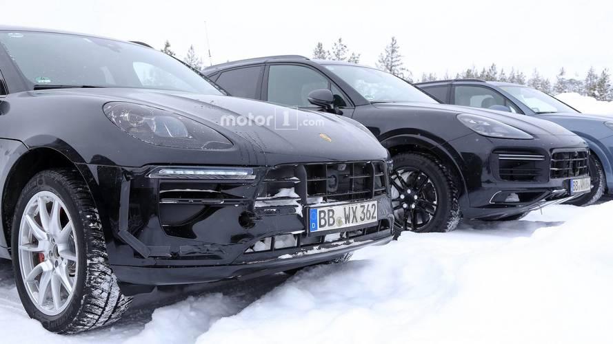 2019 Porsche Macan facelift spy photo