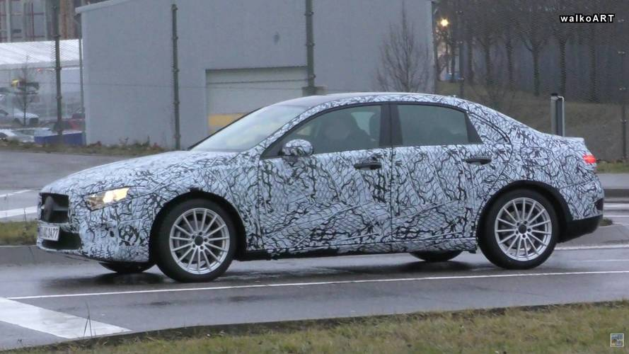 Mercedes A-Class Sedan Caught On Camera Ahead 2018 Launch