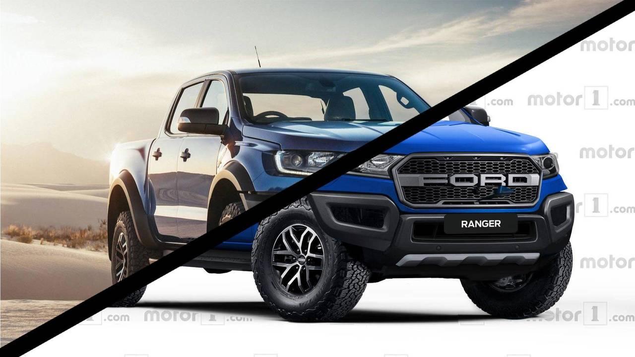 Ford Ranger Raptor Rendering Comparison