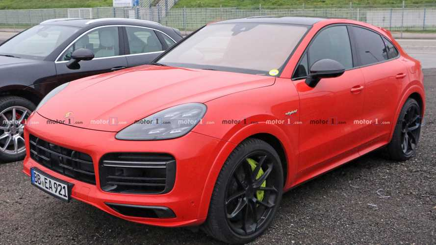 Hot Porsche Cayenne Turbo S E-Hybrid Coupe Spied Testing