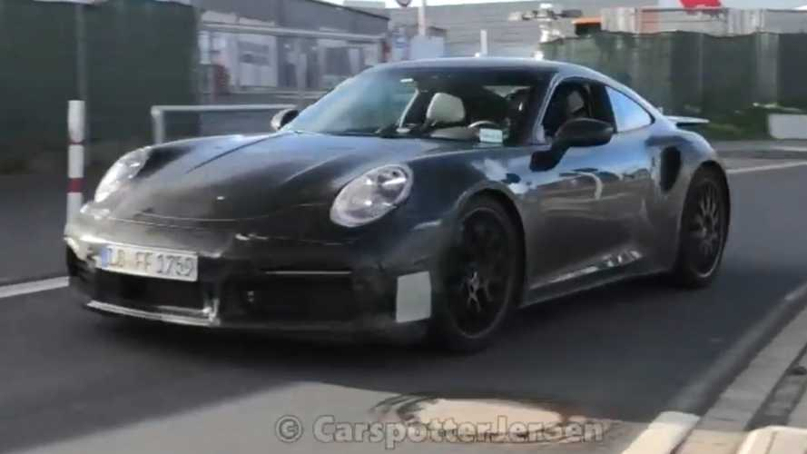 2021 Porsche 911 Turbo spied in motion ravaging the Nürburgring