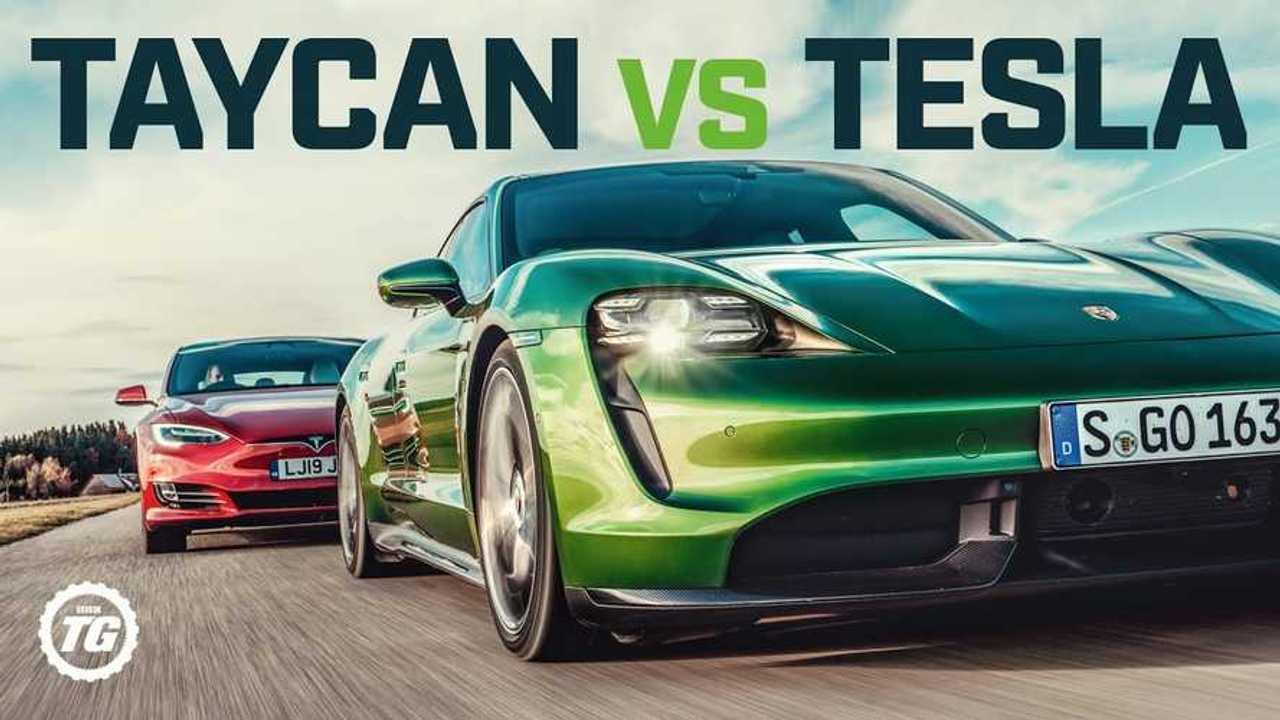 top gear taycan vs tesla