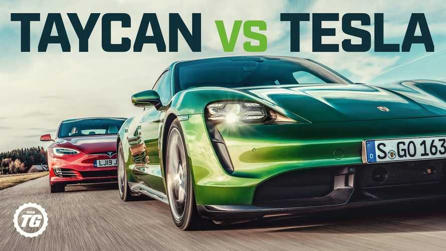 top gear taycan vs tesla
